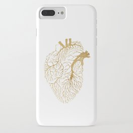 Heart Branches - Gold iPhone Case