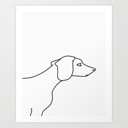 Minimal Dachshund Art Print