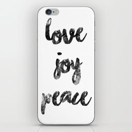 Christmas Quote Love Joy Peace iPhone Skin