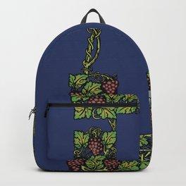wine floral frame 2 Backpack