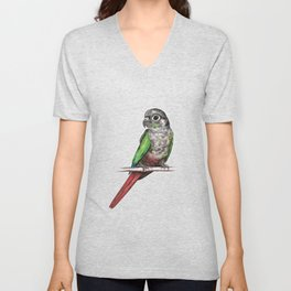 Green-cheeked conure Unisex V-Neck
