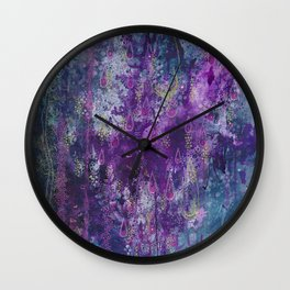 nocturnal bloom Wall Clock