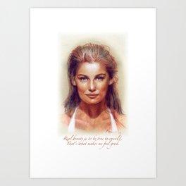 Art Portrait & Quote: Laetitia Casta Art Print