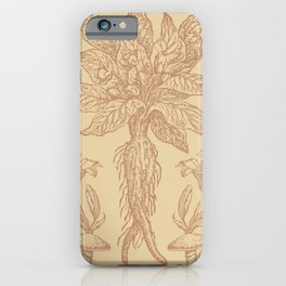 Mandragora Mushroom Toile in Sheepskin + Apricot iPhone Case