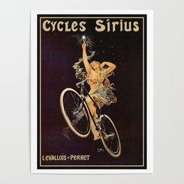 Vintage 1899 Cycles Sirius Bicycle Ad Poster