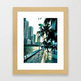 concrete shore Framed Art Print