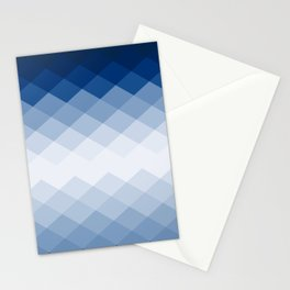 Navy rhombs Stationery Cards