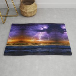 Illusionary Lightning Rug