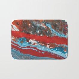 RIVER RUNS SLOW | Acrylic abstract art by Natalie Burnett Art Bath Mat