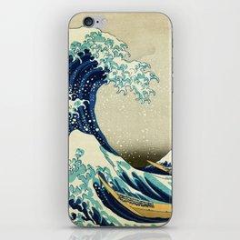 Great Wave off kanagawa. Japanese vintage fine art. iPhone Skin