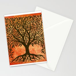 Tree Of Life Warm Tones Stationery Cards