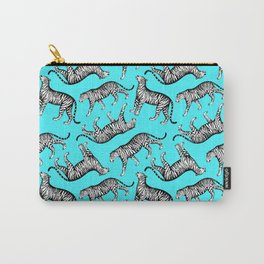 Tigers (Blue and White) Carry-All Pouch