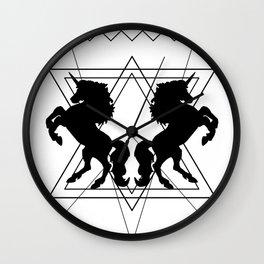 trash unicorns Wall Clock