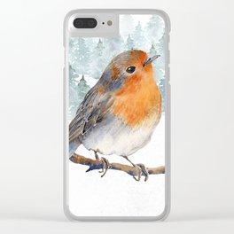 Winter wonderland 7 Clear iPhone Case