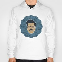 parks and recreation Hoodies featuring Ron Swanson - Parks and recreation by Kuki