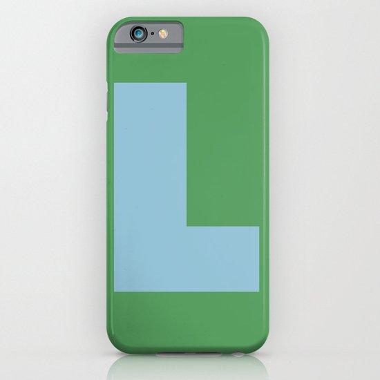 Light Blue L iPhone & iPod Case