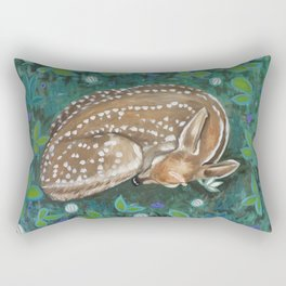 What Does the Fawn Dream? Rectangular Pillow
