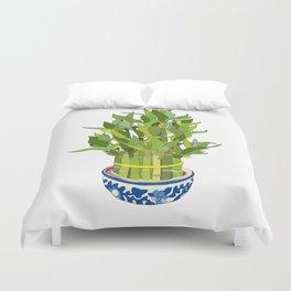 Lucky Bamboo in Porcelain Bowl Duvet Cover