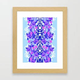 Baroque Blue Framed Art Print