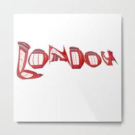 London sign red Metal Print