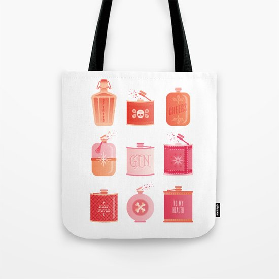 Flask Collection – Pink/Peach Ombré Palette Tote Bag