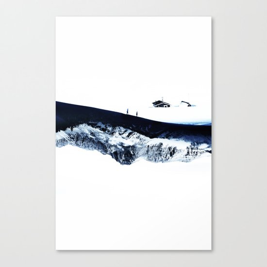Hiking for Winter Canvas Print