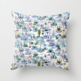 Immaculate Garden Throw Pillow