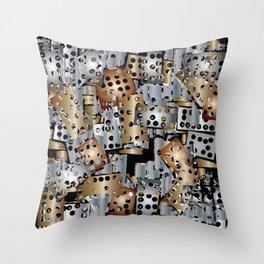 metal scraps Throw Pillow