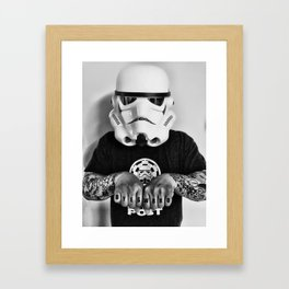 Knuckle Up Framed Art Print