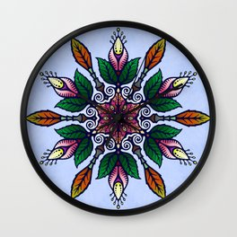 Flower Mandala 1 Wall Clock
