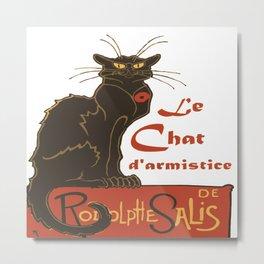 Tournee du Chat Noir D'Armistice Tribute Vector Metal Print