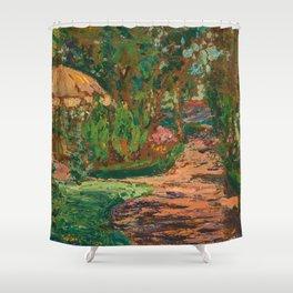 Parkland Flowers and Trees by Hélène Funke Shower Curtain