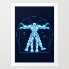 Vitruvian Jaeger Art Print