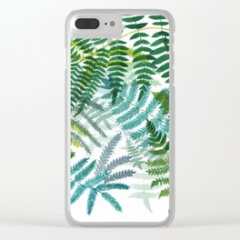 Ferns Clear iPhone Case