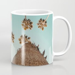 {1 of 2} Hug a Palm Tree // Tropical Summer Teal Blue Sky Coffee Mug