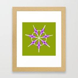 Retro Star on Lime Green Background Framed Art Print