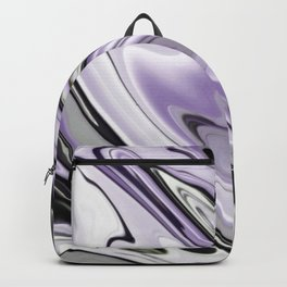 Ultra Violet Silver and Lilac Abstract Marble Vector Backpack