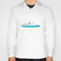 steve zissou Hoodies featuring The Life Aquatic with Steve Zissou by steeeeee