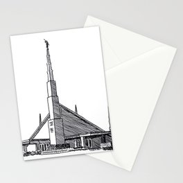 Dallas Texas LDS Temple Ink Drawing Stationery Cards