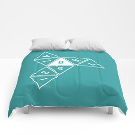 Teal Unrolled D8 Comforters