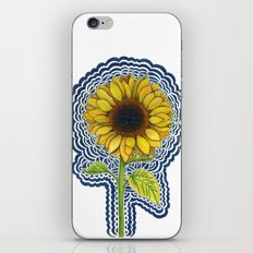 Sunflower Drawing Meditation iPhone & iPod Skin