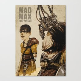 Angri Tiziano for Mad Max Fury Draw Canvas Print