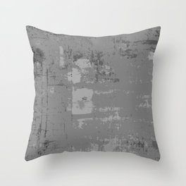 Industrial Grey Grunge Abstract Texture Concrete Pattern Throw Pillow