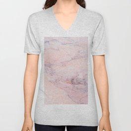 Blush Marble Unisex V-Neck