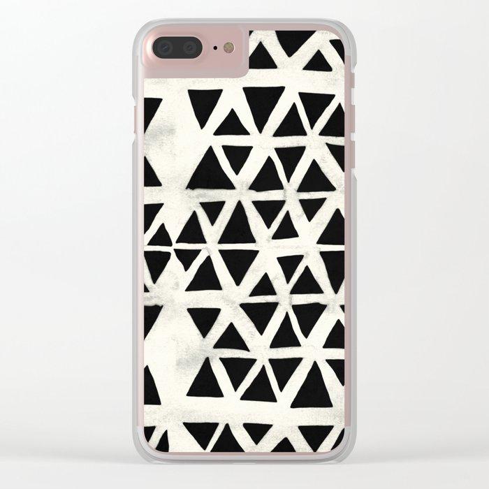 Tribal Geometric Clear iPhone Case