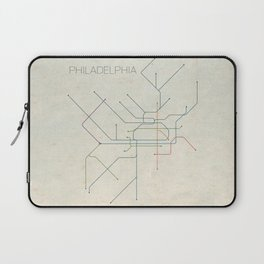 Minimal Philadephia Subway Map Laptop Sleeve