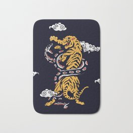 Tiger vs Snake Bath Mat