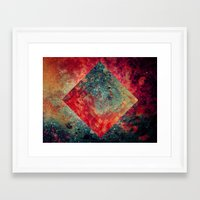 square Framed Art Prints featuring Random Square by Esco