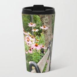 City Bench Flowers Travel Mug