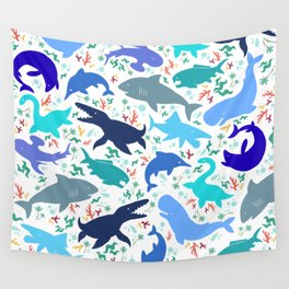 Prehistoric Sea Creatures Wall Tapestry